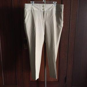 Slim cropped dress pants